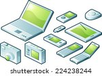 technology icon set. | Shutterstock .eps vector #224238244
