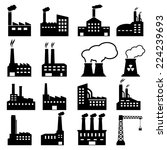 factory icons | Shutterstock .eps vector #224239693