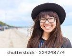 Asia Teenage Girl With...