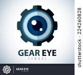 gear eye symbol icon. logo...   Shutterstock .eps vector #224260828