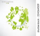 environmentally friendly world. ... | Shutterstock .eps vector #224264509
