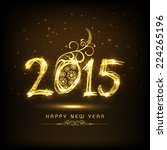 happy new year 2015... | Shutterstock .eps vector #224265196