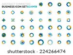 abstract symmetric geometric... | Shutterstock .eps vector #224266474