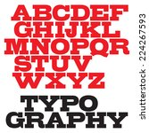 vector slab serif bold font. | Shutterstock .eps vector #224267593