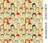 big group people celebrate new... | Shutterstock .eps vector #224271874