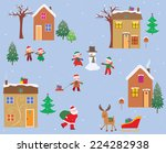 happy day | Shutterstock .eps vector #224282938