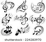 music notes | Shutterstock .eps vector #224283970
