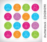 people icons set  colorful... | Shutterstock .eps vector #224284390