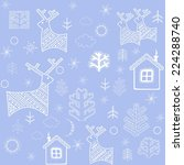blue winter wallpaper with... | Shutterstock .eps vector #224288740