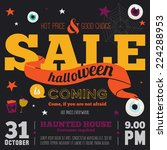 bright trick or treat poster in ... | Shutterstock .eps vector #224288953