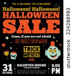 bright trick or treat poster in ... | Shutterstock .eps vector #224288983