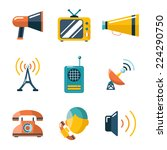 flat communication business... | Shutterstock .eps vector #224290750
