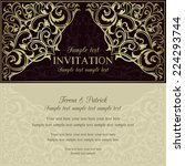 orient east invitation card in... | Shutterstock .eps vector #224293744