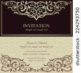 baroque invitation card in old... | Shutterstock .eps vector #224293750