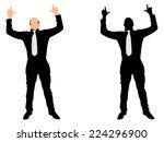 business man expressing winning ... | Shutterstock .eps vector #224296900