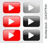 play button set | Shutterstock .eps vector #224297944