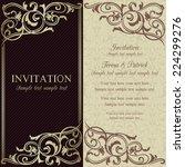 baroque invitation card in old... | Shutterstock .eps vector #224299276