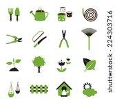 icons set   garden object   Shutterstock .eps vector #224303716