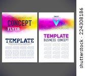 abstract vector template design ... | Shutterstock .eps vector #224308186