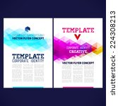 abstract vector template design ... | Shutterstock .eps vector #224308213