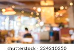 coffee shop and people sit on... | Shutterstock . vector #224310250
