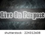 live on purpose concept text on ... | Shutterstock . vector #224312608