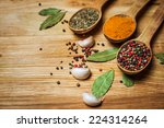 spices and herbs. spice greens... | Shutterstock . vector #224314264