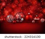 Set Of Red Christmas Balls...