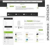 green website template   Shutterstock .eps vector #224316268