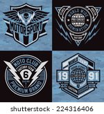 sports insignia emblem set | Shutterstock .eps vector #224316406