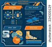 footwear infographics elements. ... | Shutterstock .eps vector #224320129