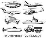 war military vehicles vector... | Shutterstock .eps vector #224322109