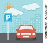 parking illustration   Shutterstock .eps vector #224322889