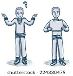 young man character with doubts ... | Shutterstock .eps vector #224330479