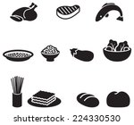 several food simple pictogram... | Shutterstock .eps vector #224330530