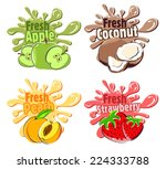 splash fruit | Shutterstock .eps vector #224333788