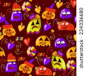 halloween seamless background | Shutterstock .eps vector #224336680