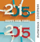 happy new year 2015 creative... | Shutterstock .eps vector #224339644
