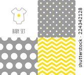 Set Of Baby Seamless Patterns....