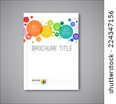 modern vector abstract brochure ... | Shutterstock .eps vector #224347156