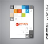 modern vector abstract brochure ... | Shutterstock .eps vector #224347219