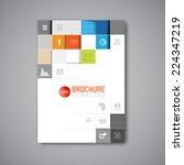 modern vector abstract brochure ... | Shutterstock .eps vector #224347219