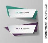 vector infographic origami... | Shutterstock .eps vector #224348260