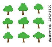 tree  vector illustration | Shutterstock .eps vector #224349520