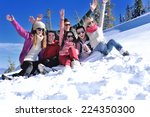 happy young people group have... | Shutterstock . vector #224350300