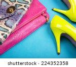 neon high heels  dress and... | Shutterstock . vector #224352358