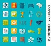 football  soccer infographic | Shutterstock .eps vector #224353006