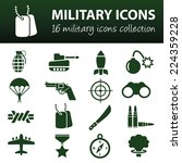 military icons | Shutterstock .eps vector #224359228