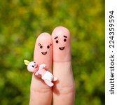 finger art of a happy couple.... | Shutterstock . vector #224359594