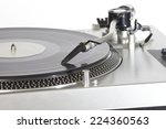 turntable with a vinyl for dj   ... | Shutterstock . vector #224360563